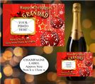 Personalised Christmas Wine / Champagne Bottle PHOTO Label N3